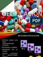 Gelificación iónica en la Tecnología de los Fármacos