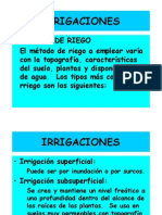 Métodos de Riego UC