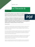 Resumen Plan Nacional de Desarrollo Educación 2013-2018