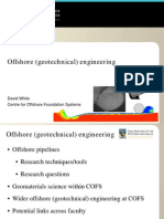 Offshore Geotechnical Engineering Dave White