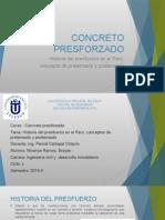 Historia Del Concreto Presforzado en El Perú,Concepto de Pretensado y Postensado