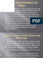 Shukr Thankfulness to Allah Grade 12