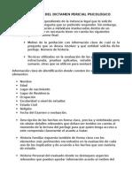 Estructura Del Dictamen Pericial Psicológico