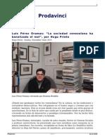 La Sociedad Venezolana Ha Banalizado El Mal Por Hugo Prieto