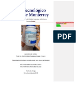Determinación del número de moléculas de agua en una sal hidratada - Química