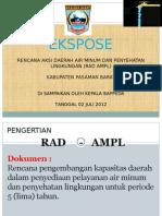 Summary RAD AMPL Kab. Pasaman Barat 1.ppt