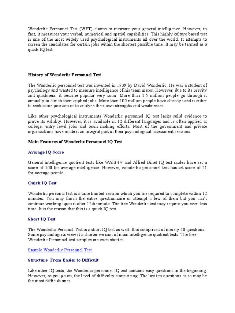 Referinte Despre- Testul Wonderlic | Intelligence Quotient | Epistemology