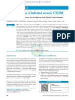Bacterial Flora of Infected Unsafe CSOM