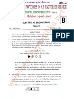 APPSC INSPECTOR OF  FACTORIES IN A.P(Electrical Enginerring)-2012.pdf
