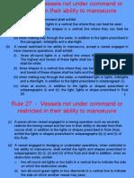 Rule 27 - Vessels NUC