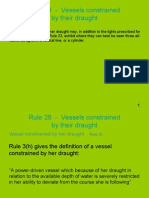 Rule 28 - Vessels Constrained