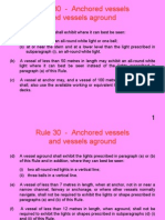Rule 30 - Anchored Vessels