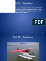 Rule 31 - Seaplanes