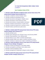 Contoh Soal PLPG