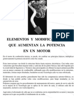 Elementos y Modificaciones Que Aumentan La Potencia Del Motor