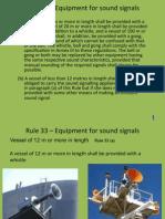 Rule 33 - Equipment
