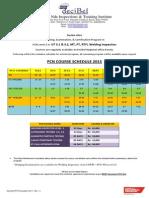 Decibel Pcn Schedule