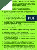 Rule 34 - Manoeuvring