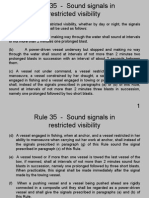 Rule 35 - Sound Signals In