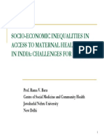 Socio-economic Inequalities in Access to Maternal Health Care in India