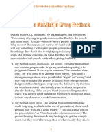 Ten Common Mistakes in Givinf Feedback