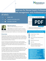 Navigating Ethics and Law for Mental Health Professionals-Boston-MA