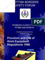 Working Safely With Work Equipment by Donald a Mackay