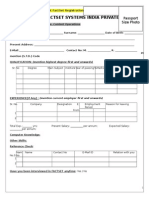 Campus Student Personal Data Form