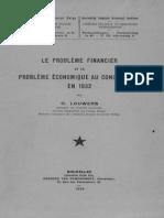 Le problème financier du Congo-belge