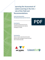 Improving the Assessment of Student Learning in the Arts