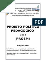 Projeto Político Pedagógico - Proemi