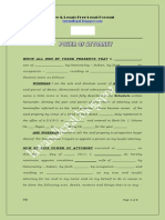 Format Power of Attorney