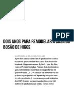 Dois Anos Para Remodelar a Casa Do Bosão de Higgs - PÚBLICO