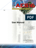 Lynx PCI Card AES16 User Manual