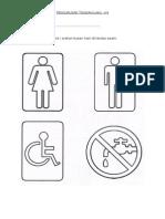 Warnakan Gambar Simbol-tandas Awam