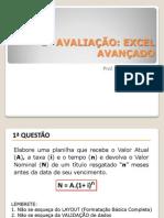 1ª AVALIAÇÃO - Excel Avançado - EIA N3.pdf