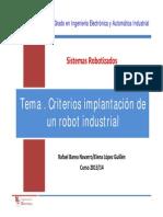 SR T7 CriteriosImplantacionRobotIndustrial