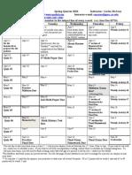 Academic Calendar SP10 Math 107