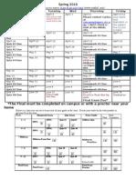 Academic Calendar 99OL SP10