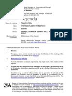 November IW Full Council agenda