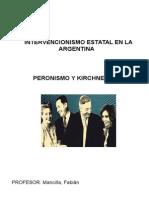 Intervencionismo Estatal en La Argentina - Peronismo y Kirchnerismo