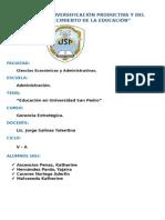 """""""Educación en Universidad San Pedro"""""""