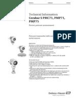 Cerabar S PMC71, PMP71, PMP75