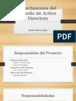 Conclusiones Del Diseño de Active Directory