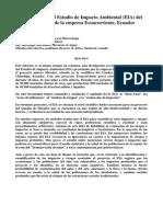Revisión Crítica Del Estudio de Impacto Ambiental EIA Del Proyecto Mirador de La Empresa Ecuacorriente Ecuador