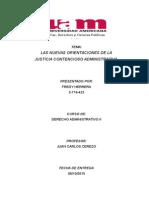 Las Nuevas Orientacione de La Justicia Contencioso Administrativo.