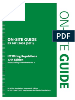 BS 7671 on Site Guide Green 1 7th Edition By IET
