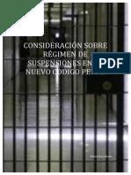 CONSIDERACIÓN SOBRE RÉGIMEN DE SUSPENSIONES EN EL NUEVO CODIGO PENAL