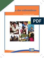 Manuel Gestion Des Subventions