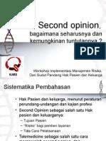 BS Second Opinion 4 Nov 2015 - Prof. Dr. Budi Sampurna